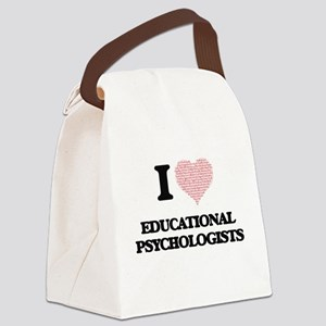 I love Educational Psychologists Canvas Lunch Bag