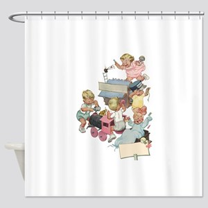 Vintage Children Playing Shower Curtain