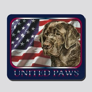 Labrador Retriever Dog Patriotic USAFlag Mousepad