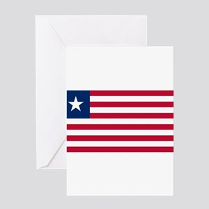 Liberia Flag Greeting Cards
