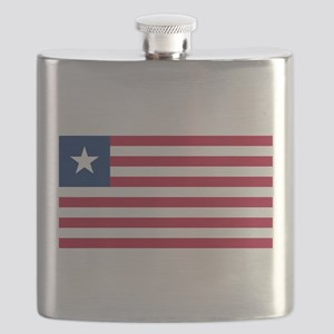 Liberia Flag Flask