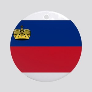 Liechtenstein Flag Round Ornament
