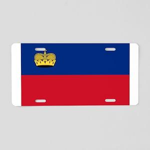 Liechtenstein Flag Aluminum License Plate