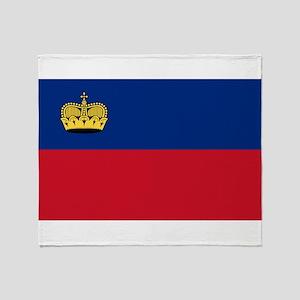 Liechtenstein Flag Throw Blanket