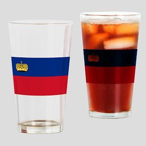 Liechtenstein Flag Drinking Glass