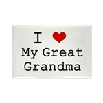 I Heart My Great Grandma Rectangle Magnet (100 pac
