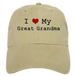 I Heart My Great Grandma Cap