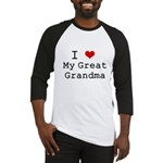 I Heart My Great Grandma Baseball Jersey