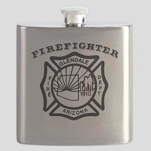 Glendale Arizona Firefighter Flask