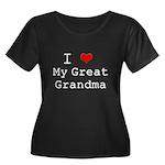 I Heart My Great Grandma Women's Plus Size Scoop N