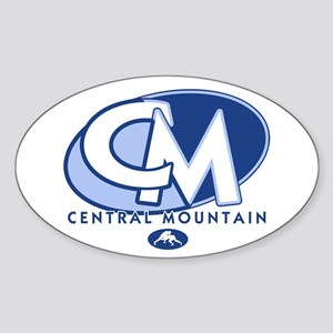 Central Mountain Wrestling 8 Oval Sticker