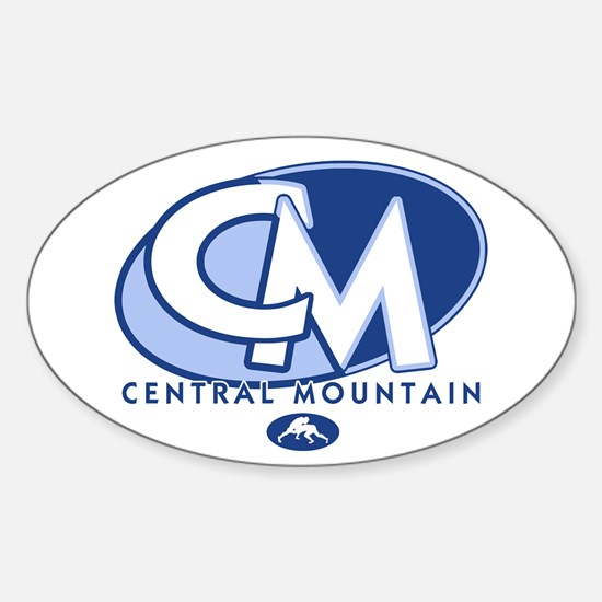 Central Mountain Wrestling 8 Oval Decal