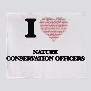 I love Nature Conservation Officers Throw Blanket