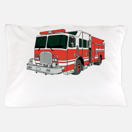 Firetruck Pillow Case
