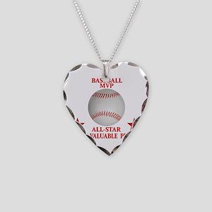 BASEBALL MVP ALLSTAR Necklace Heart Charm