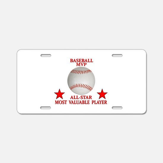BASEBALL MVP ALLSTAR Aluminum License Plate
