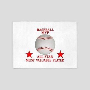 BASEBALL MVP ALLSTAR 5'x7'Area Rug