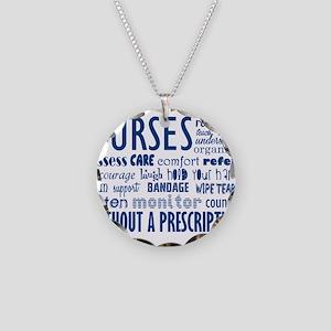 nurses Necklace Circle Charm