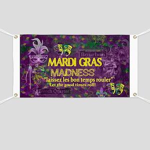 Mardi Gras Madness Bourbon French Quarter N Banner