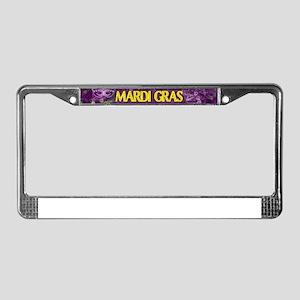 Mardi Gras Madness Bourbon Fre License Plate Frame
