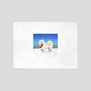 Snow Puppy 5'x7'Area Rug