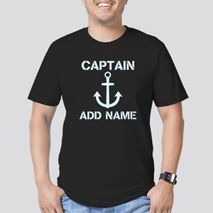 Custom Boat Captain Name Anchor T-Shirt