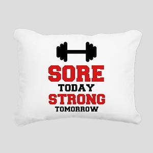 Sore Today Strong Tomorrow Rectangular Canvas Pill