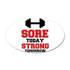 Sore Today Strong Tomorrow Wall Sticker