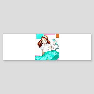 50's Girl Bumper Sticker
