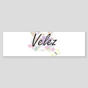 Velez surname artistic design with Bumper Sticker