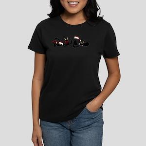 Cute Black Santa Cat T-Shirt