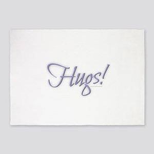 Hugs - Purple 5'x7'Area Rug