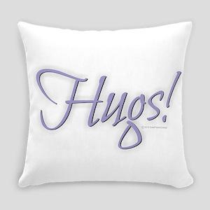 Hugs - Purple Everyday Pillow