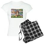 3-5.5x7.5-Lilies2-Aussie4 Women's Light Pajama