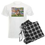 3-5.5x7.5-Lilies2-Aussie4 Men's Light Pajamas