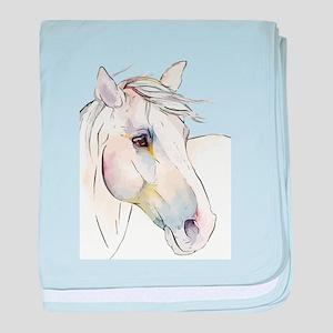 White Horse Eyes baby blanket