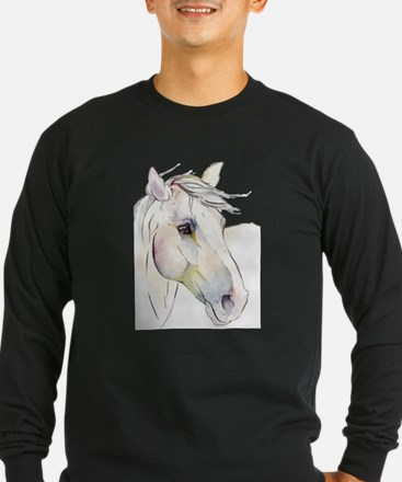 White Horse Eyes Long Sleeve T-Shirt