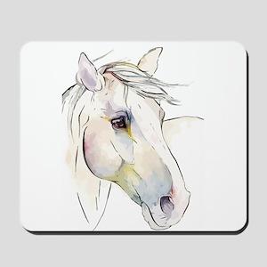 White Horse Eyes Mousepad
