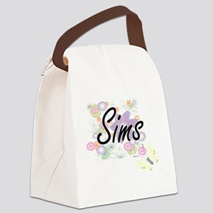 Sims surname artistic design with Canvas Lunch Bag