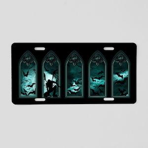 Gothic Bat Windows 5 Aluminum License Plate