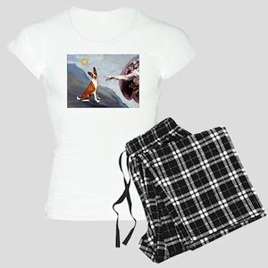 TILE-Creation-Basenji3 Women's Light Pajamas