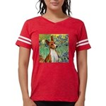 TILE-Irises-Basenji Womens Football Shirt