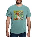 TILE-Irises-Basenji Mens Comfort Colors Shirt