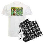 TILE-Irises-Basenji Men's Light Pajamas