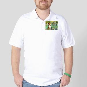 TILE-Irises-Basenji Polo Shirt