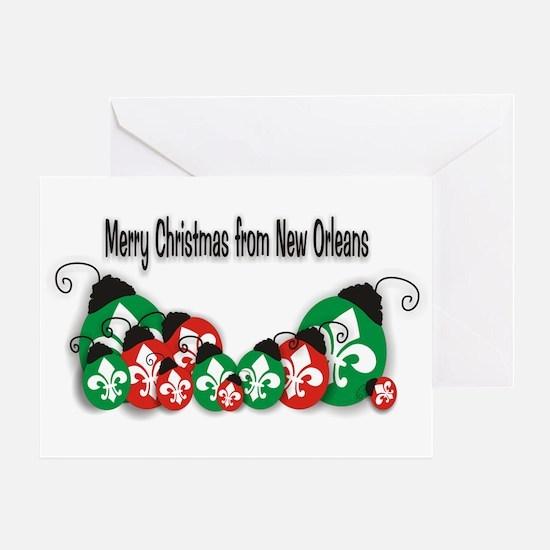 New orleans christmas tree xmas nola Greeting Card