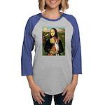Mona Lisa - Basenji Womens Baseball Tee