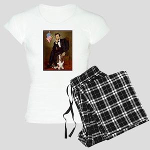 TILE-Lincoln-Basset2 Women's Light Pajamas