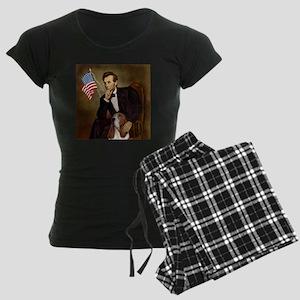TILE-Lincoln-Basset2 Women's Dark Pajamas