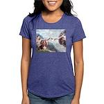 card-Creation-Basset1 Womens Tri-blend T-Shirt